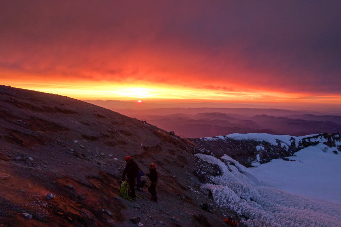 Awesome sunrise, and the summit to ourselves.