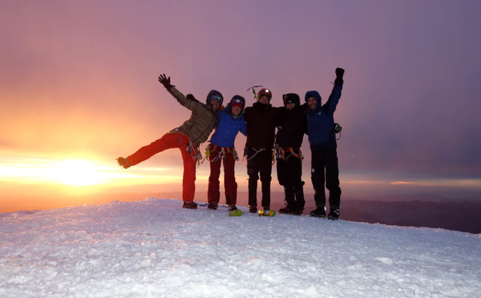 Our group on the summit. Stoked!